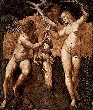 Адам и Ева у древа познания добра и зла