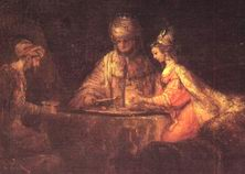 Аман, Ассур и Эсфирь. Рембрант 1660