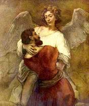 Иаков борющийся с Христом. Рембрандт
