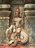 Богиня реки Кавери в храме в Курма-Кшетре, Индия