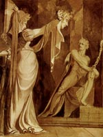 Кримхильд показывает Хёгни голову Гуннара. Генрих Фюссли
